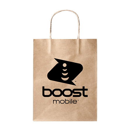 Picture of Boost Mobile Retail Paper Bag with Handle 25 pack, Black